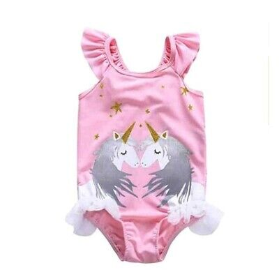 Childrens Star Outfit (TODDLER KIDS BABY GIRLS SWIMWEAR STAR UNICORN SWIMSUIT SWIMMING CAP OUTFIT)