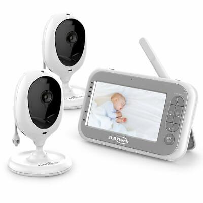 Video Baby Monitor 2 Camera & Audio,4.3'' LCD Screen,Two-Way Audio,Night Vision