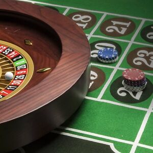 Blackjack Roulette Layout Table Top Mat Pad Cover Casino Card Game Green 2  Felt