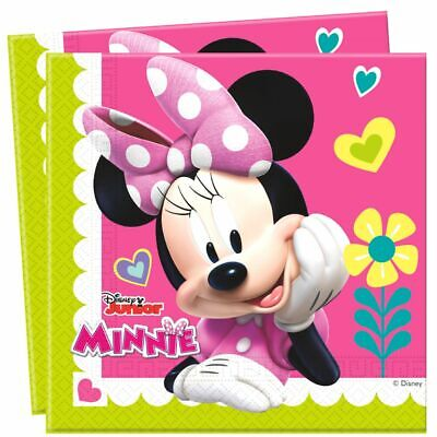 0 Stück | Disney Minnie Maus | Party Kinder Geburtstag (Minnie Mouse Servietten)