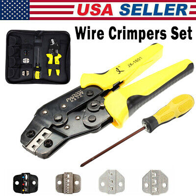 Meterk Jx-d4 Ratcheting Wire Terminal Crimpers Pliers Cord End Terminals Tool Us
