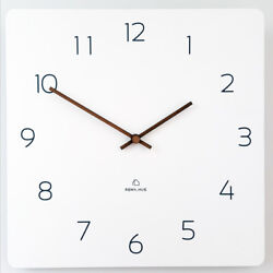 11.4 Square Wall Clock Silent &Non-Ticking Quartz Lightweight 0.55lb Unique Eco