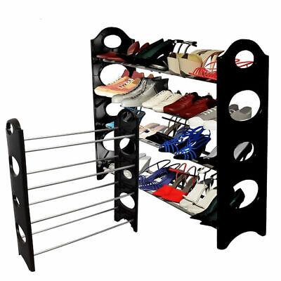 4 Tier Small Shoe Rack Shoe Shelf Boot Organizer for 20-Pair Floor Shoes