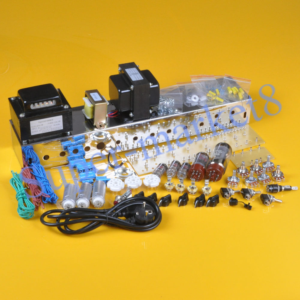 Bass Guitar Amp Kit : bassman tweed 5f6a guitar bass amp amplifier diy kit deluxe chassis chrome plate ~ Russianpoet.info Haus und Dekorationen