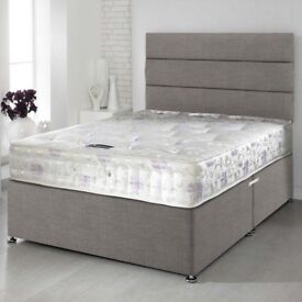Delivery- TODAY PREMIUM RANGE Double Bed Single King Bed Complete Sets Luxury ORTHOPAEDIC Mattress-