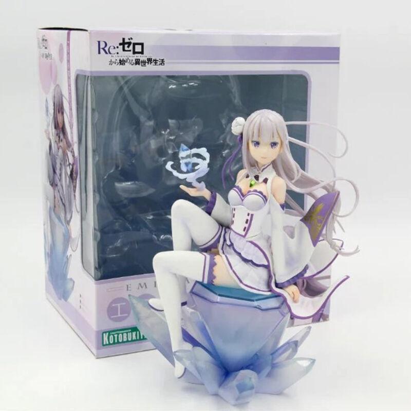 Re: Zero kara Hajimeru Isekai Seikatsu Emilia 1/8 Scale Figure PVC Model Boxed