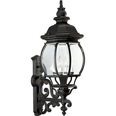 Progress Lighting Onion L.Collection 4-Light Outdoor Textured Black Wall Lantern