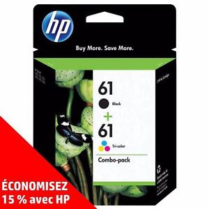 Cartouches d'encre noire et de couleur d'origine HP 61 – Achetez directement de HP et économisez! (15%)