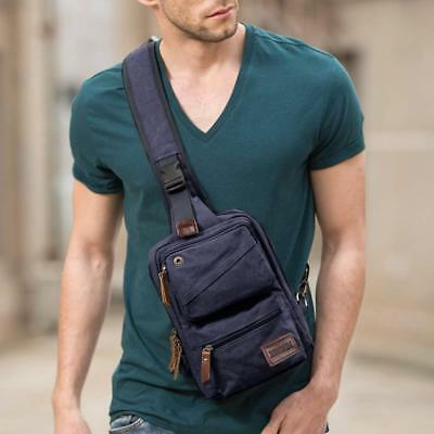 Messenger Bag Sling Small Backpack Canvas Crossbody Bag Chest Pack Murse Strap