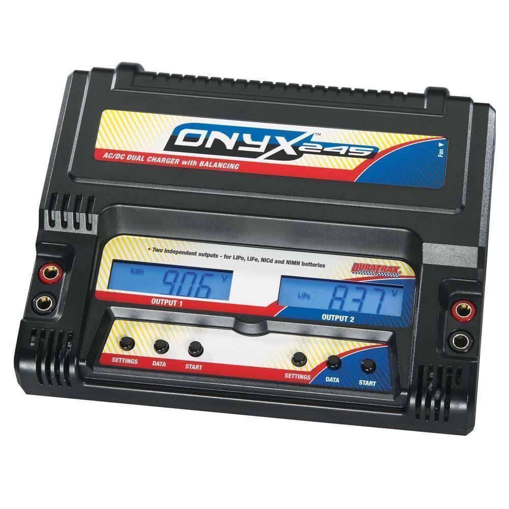 Duratrax Onyx 245 Ac Dc Dual Balancing Charger Lipo Life Nicd Balancer Seven Segments Stock Photo