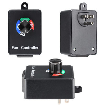 Ac Variable Active Air Duct Fan Speed Controller Hydroponics Inline Exhaust 120v