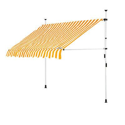 B-Ware Klemmmarkise Gelb/Weiß 200cm