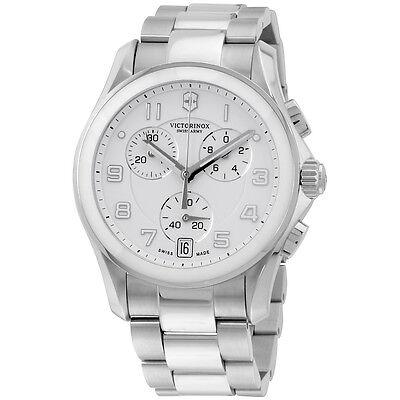 Victorinox Chrono Classic Analog Display Swiss Quartz Silver Men's Watch 241538