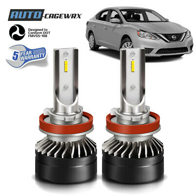 LED Headlight Kit H9 6000K White High Beam CSP Bulb for NISSAN Sentra