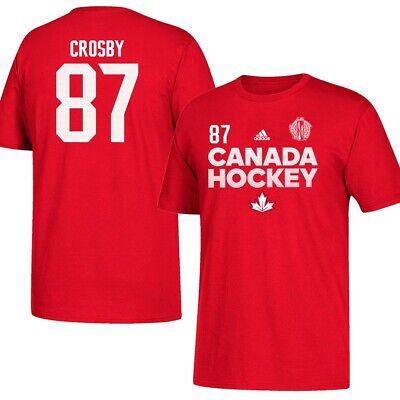 Sidney Crosby NHL Canada World Cup of Hockey Adidas Red N&N Jersey T-Shirt](Hockey Nhl)