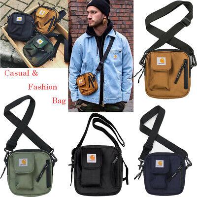 Men Shoulder Bag Black Women Adjustable Strap Crossbody Logo Sport Messenger Bag ()
