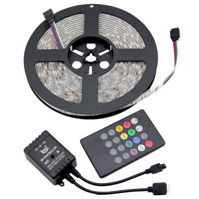 Music Controller Sound Sensitive+5M 5050 RGB 300 LED Strip Light Waterproof Kit](Sound Sensitive Led Lights)