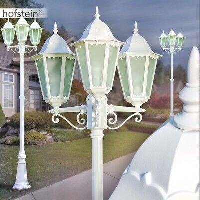 Weiß Kandelaber (Aussen Steh Leuchten Milchglas Kandelaber weiss Wege Garten Lampen verstellbar)