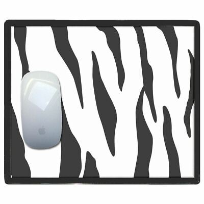 Zebra Print - Thin Pictoral Plastic Mouse Pad Mat Badgebeast