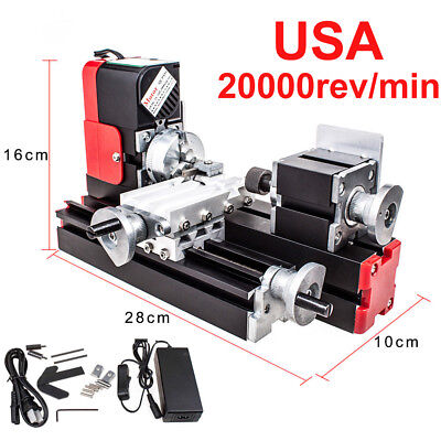 20000revmin Dc12v Woodwork Hobby Craft Lathe Machine Metal Motorized Diy Tool