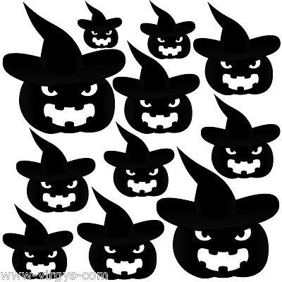Citrouilles Halloween (Sticker Planche Halloween Citrouilles Chapeaux, Tailles Coloris Divers)