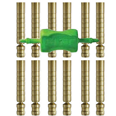 Insert Plaque - Easton Inserts HIT Brass 75-50gr fits FMJ Arrows 12pk +Insert Tool 615310 #15310