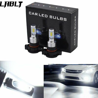 2504 PSX24W LED Fog Light Bulbs Kit 35W 4000LM 6000K White Plug And Play US