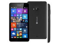 💯MICROSOFT LUMIA 535 5 INCH UK SIM-FFEE UNLOCKED SMARTPHONE - BLACK WITH CASE💯
