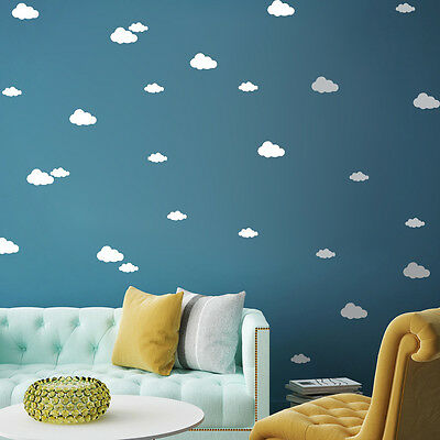 Clouds Vinyl Wall Sticker Decal Removable Art Nursery Kids Baby Room Home Decor