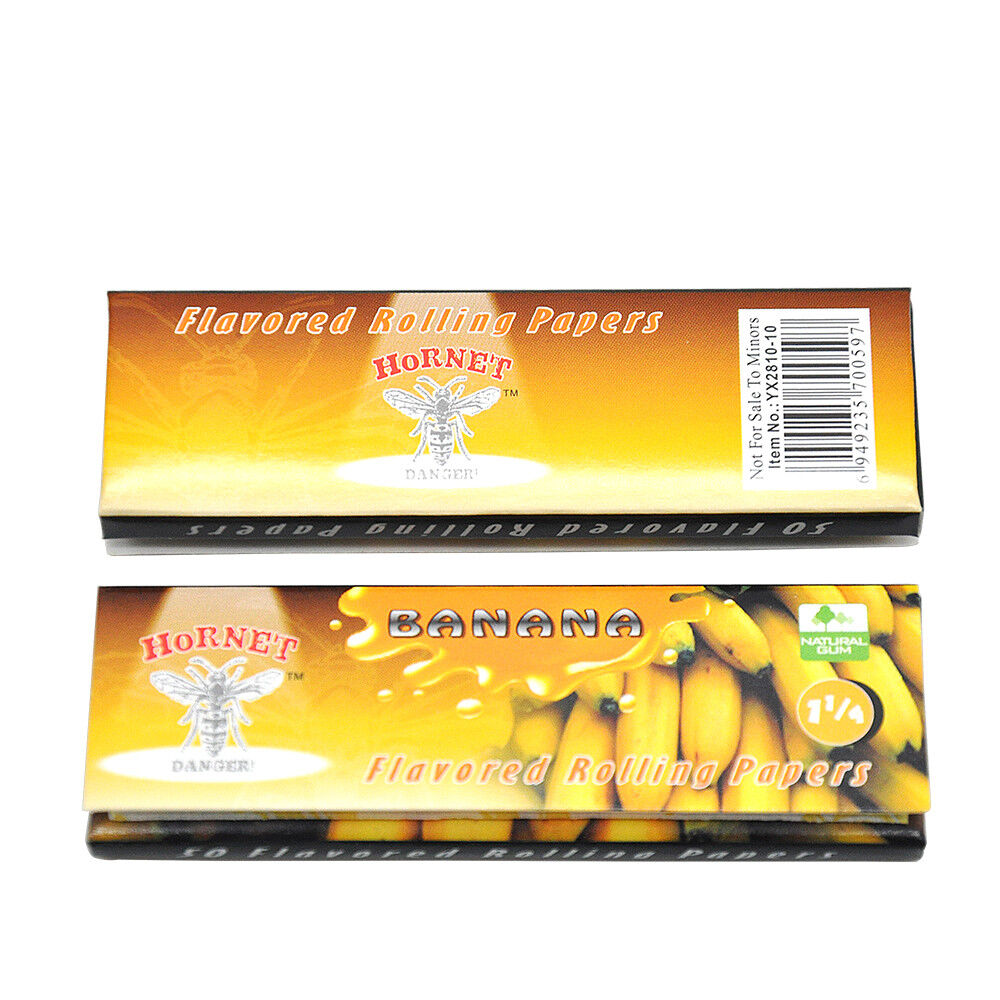 HORNET 5Packs 1 1//4 Honey Flavored Natural Smoking Rolling Papers