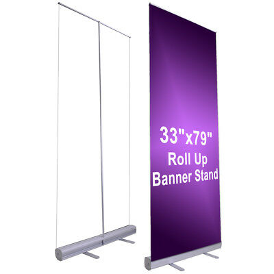 10pcs 33x79 Retractable Roll Up Banner Stand Wedding Trade Show Sign Display