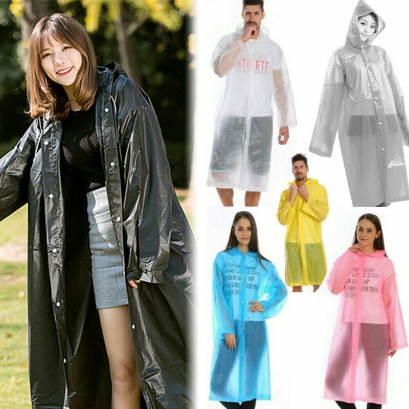 Adults Raincoat Outdoor Transparent Waterproof Rainwear EVA