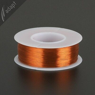 Magnet Wire, Enameled Copper, Natural, 34 AWG, Non-Solder,  200C, ~1/4lb. 1975'