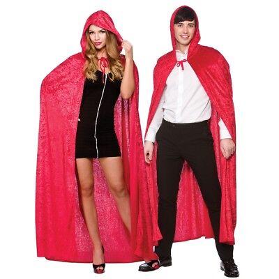 Langer Roter Deluxe Umhang Superheld Kostüm Rotkäppchen 140cm Einheitsgröße