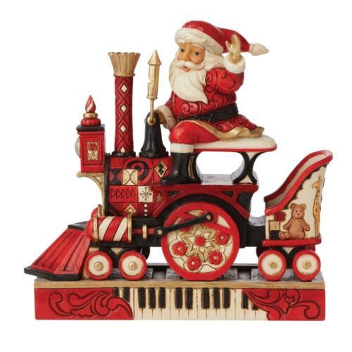 FAO Schwarz Santa Claus Riding Train New 2021 Jim Shore Christmas 6009118