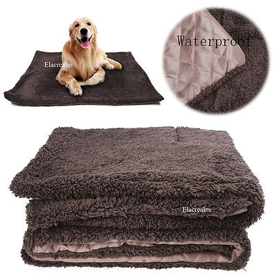 Warm Soft Fleece Pet Blanket Large Cat Dog Kennel Waterproof Bed Mat Pad Cushion
