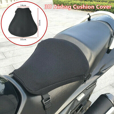 Riding Motorcycle Seat Non-slip Inflatable Cushion Cover Mesh Cloth  3D Air Pad