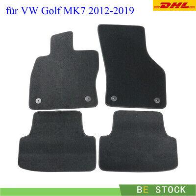 Velours Schwarz Autoteppich Fußmatten für VW Golf 7 GTI Variant Kombi Limo 2012-