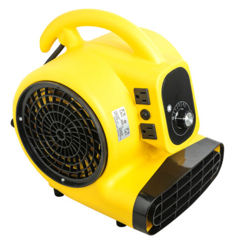 1/4HP Air Mover Durable Lightweight Carpet Dryer Utility Floor Blower Janitorial