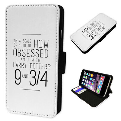Obsessed Harry Potter  Flip Phone Case Wallet Cover Fits Samsung & Iphone Models