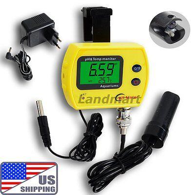 US Digital PH Meter Monitor Thermometer Spa Pool Aquarium Temp AC Adapter on Rummage