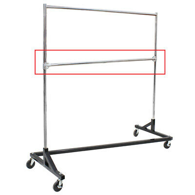 Add-on Hangrail For Z Rack In Chrome Plated Steel 63 Inch