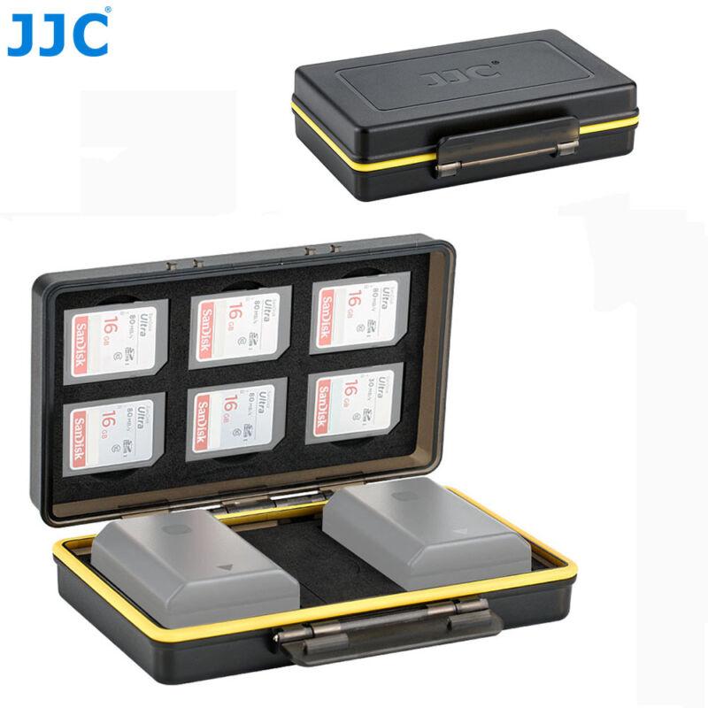 2 Camera Battery+6 SD Card Case fr Sony A7 III A7SII A7R A6500 A6400 A6300 A6000