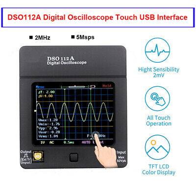 Dso112a Digital Oscilloscope Portable Storage Tft Tester Multimeter 2mhz 5msps