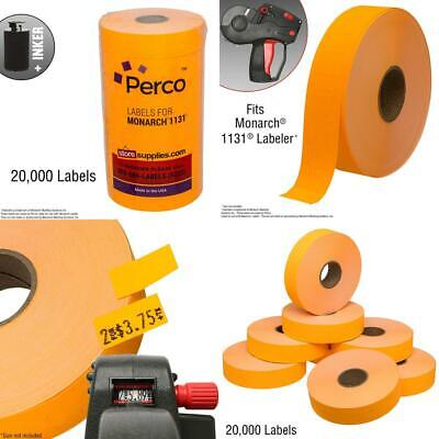 Fluorescent Orange Pricing Labels For Monarch 1131 Price Gun 8 Rolls...