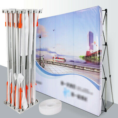 8feet Pop Up Display Backdrop Stand Trade Show Exhibition Booth Wall Tension Usa