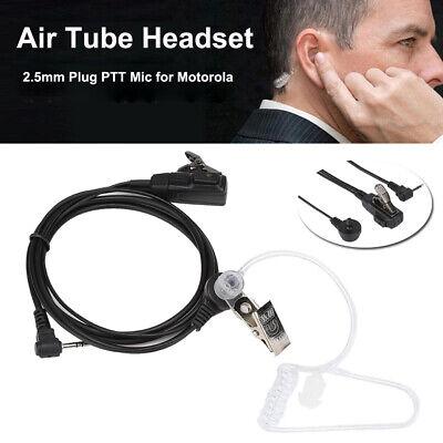 2.5mm 1 Pin Walkie Talkie Air Tube Headset Earpiece PTT Mic for Motorola Radio