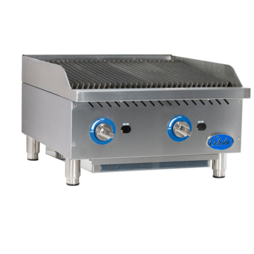 Globe Gcb24g-sr Gas Countertop Stainless Steel Radiant Charbroiler