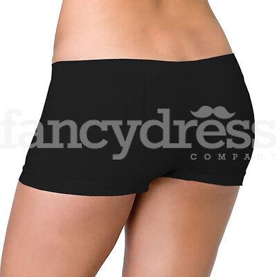 Leg Avenue Boys Shorts (Black Boyshorts Seamless Boy Boxer Shorts Panties Fancy Dress NEW Leg Avenue)