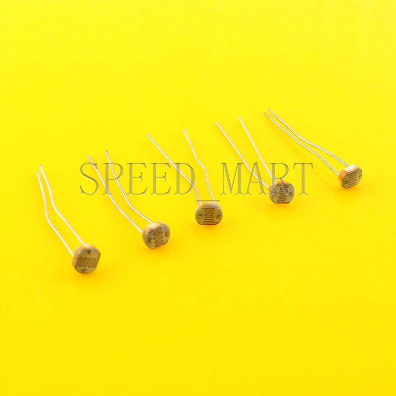 5 pcs Photoresistor LDR CDS 5mm Light-Dependent Resistor Sensor GL5539 Arduino